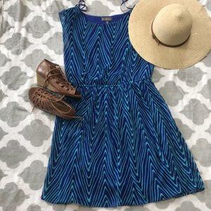 Blue/teal patterned dress